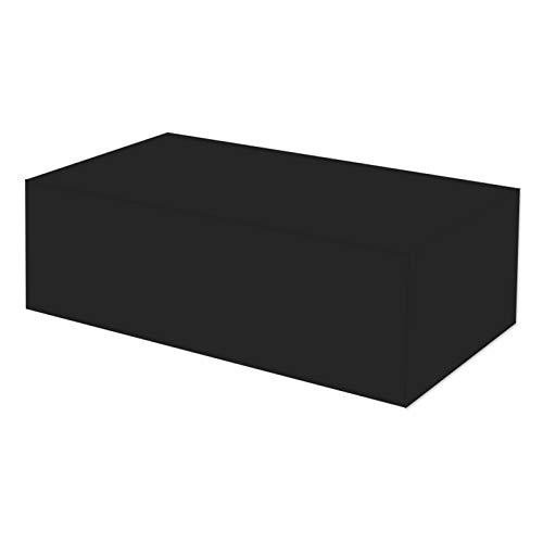Ydq Housses De Meubles De Jardin Imperméable 210D Tissu Oxford Coupe-Vent Anti-AV Anti-Neige Housse De Protection pour Chaise De Table Canapé Extérieur,126 * 126 * 74cm