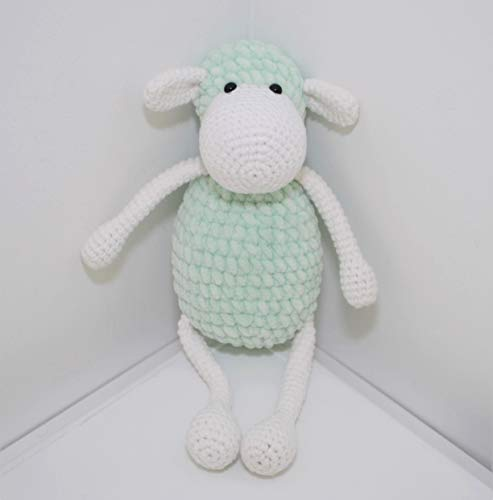Mouton peluche 22cm crocheté main Amigurumi Marshmallow Toys