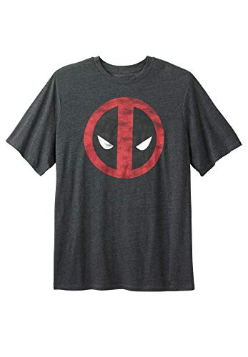 KingSize Men's Big & Tall Marvel Graphic Tee - Tall - 5XL, Deadpool