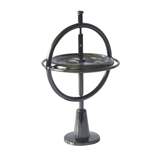Armba Giroscopio de Metal antigravedad, descompresión Adulta, Juguete de Ciencia y educación de artefactos, tecnología giratoria de Equilibrio Negro, giroscopio mecánico (Negro)