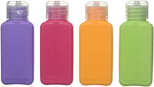 Ikea 4 Color Bottles Travel Accessory 3.4oz TSA Approved Upptacka