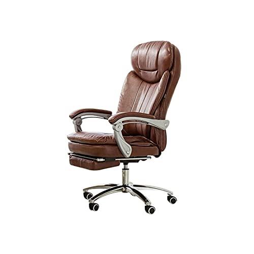 XYJHQEYJ Boss Chair Desk Sedie Sedia da Ufficio Executive Sedia da Ufficio, Sedia da Gioco for Computer Sedia Videogioco ergonomico reclinabile con poggiapiedi, Sedia in Pelle