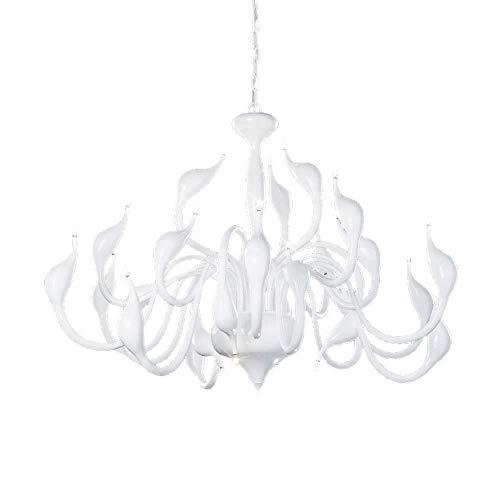 Lámpara de escritorio Nordic Swan Lámpara de ara?a LED Ambiente de sala de estar Dormitorio principal Iluminación Restaurante Sencillo moderno Personalidad creativa Lámpara de hierro forjado 75 * 55 c