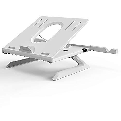 LILIS Mesa Plegable Ordenador portátil soporte ajustable, Soportes for las, sentado o de pie Conversión de escritorio, portátil titular de refrigeración portátil turística, 9-Levels Notebook Riser aju