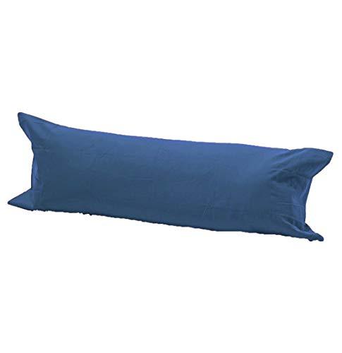 Islander Fashions De Unicolore Polycoton Drap Plat Feuille Sellette V Forme Taie d'oreiller Toutes Les Tailles Sellette Taie d'oreiller Mid Blue 60 Pouces