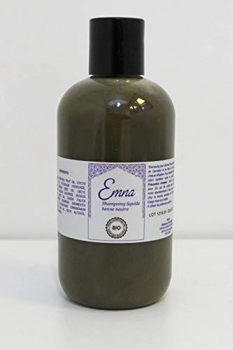Shampoing liquide bio & naturel au henné neutre (non colorant) et aux huiles essentielles de cannelier et bois de gaiac 250ML