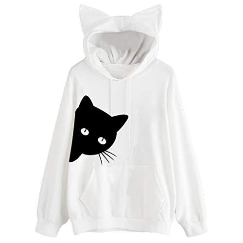 OSYARD Damen long sleeve Knitwear y-04 weiß(hooded) s