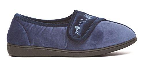 Dr Keller - Zapatillas de Estar por casa de Material Sintético para Mujer, Color Azul, Talla 36.5