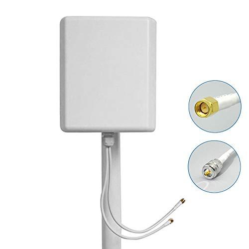 Octofibre Antenne 4G MIMO Directionnelle Connectique SMA Câble LMR200 pour Huawei B525, B528, B618, E5180, B715, B315, ASUS, TP Link : 700/800/900/1800/2100/2600 MHz (5M)