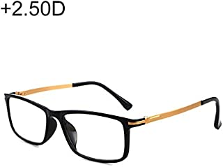 WTYD Clothing and Outdoor Accessories Black Frame Spring Hinge Anti Fatigue & Blue-ray Presbyopic Glasses, 2.50D Outdoor Equipment