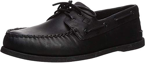 Sperry Mens A/O 2-Eye Boat Shoe, Black,...