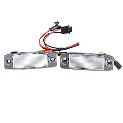 WYYUE 2 Pcs Luces de matrícula Placa de matrícula Lámpara de luz LED Compatible con Kia Sorento R Sorento MX 2010 2011 2012 2013 2014 2015 Usado para reemplazar Carro Luz de Matricula Traseras