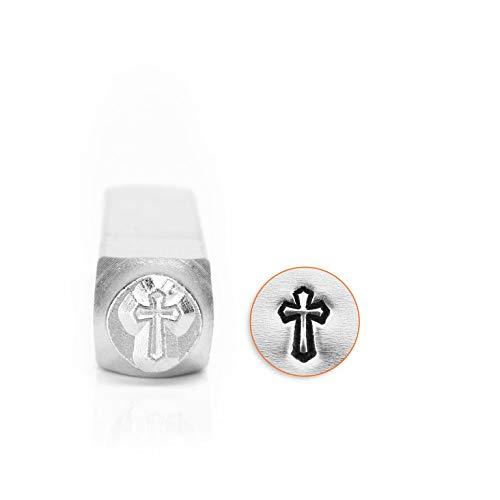 ImpressArt SCDESIGN-1518D Cross Outline Design Stamps, 6 mm