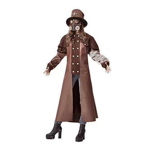 zaza Disfraz de Halloween Ciudad de Adultos Zombie Hunter/Plaga Doctor Cosplay Cosplay Thriller Play Play Setiry Disfraz Set