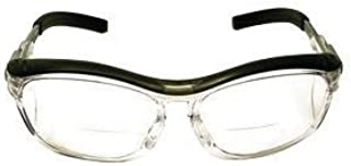 3M Nuvo Readers 1.5 Diopter Safety Glasses With Gray Plastic Frame, Clear Polycarbonate Anti-Fog Lens And Integral Sideshields
