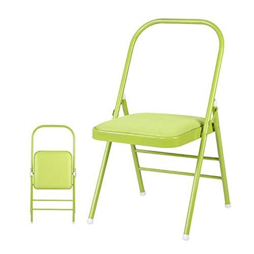 QIDI Chaise Pliante Chaises Pliantes Chaise de Yoga Métal Cuir Cuir Simplicité Moderne Support inversé Multifonction Pliable - Noir Rouge (édition limitée) (Couleur : Vert)
