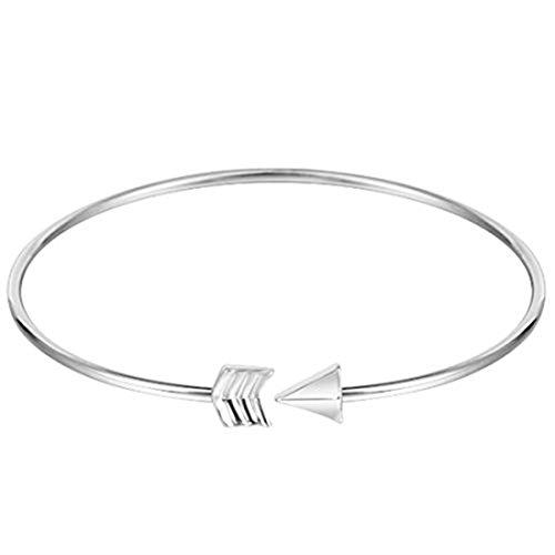 GYKMDF Brazalete de flecha de plata o oro, pulsera de flecha, brazalete de flecha, brazalete minimalista ajustable