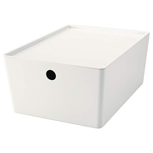 IKEA.. 602.802.05 Kuggis Caja con Tapa, Color Blanco