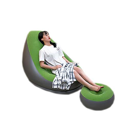 DUTUI Aufblasbares Einzel-Sofa, Schmutzabweisend Und Leicht Zu Reinigen. Verwenden Sie Es Auf Dem Balkon, Um Sich Hinzulegen Und Die Entspannte Zeit Zu Hause Zu Genießen,2