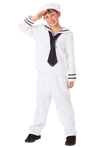 White Sailor Costume for Kids Boy's Sailor Uniform Costume Medium...