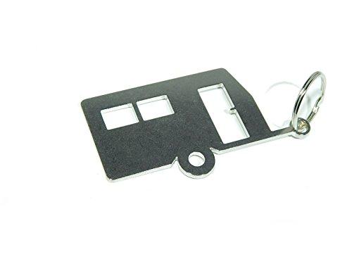 DisagrEE Schlüsselanhänger Wohnwagen - hochwertiger Edelstahl - glänzend