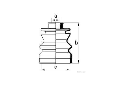 Preisvergleich Produktbild HERTH+BUSS JAKOPARTS J2868000 Faltenbalgsatz,  Antriebswelle