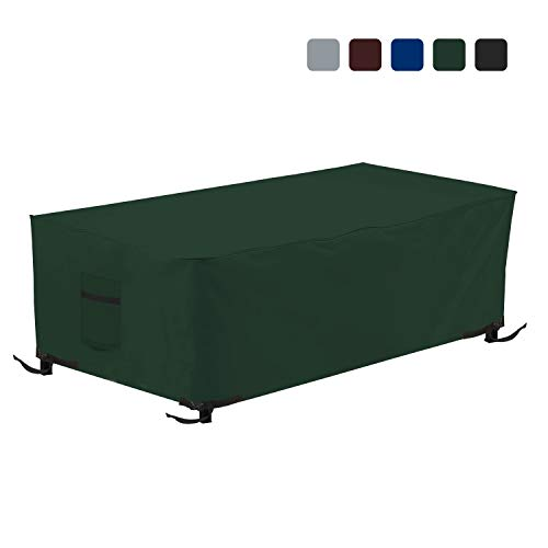 Fire Pit Outdoor Covers - Waterproof, 100% UV Resistant Rectangular Fire Pit Cover, 18Oz PVC Fabric with Air Pockets and Drawstring for Snugfit to Withstand Winds & Storms. (38\