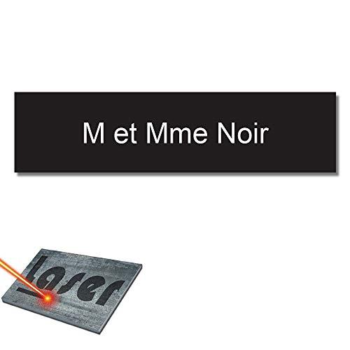 Mygoodprice - Targa per Nome della Cassetta delle Lettere, Autoadesiva, Dimensioni: 10 x 2,5 cm, Personalizzabile da 1 a 3 Righe