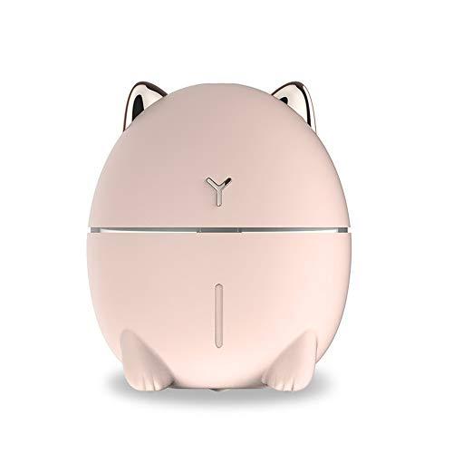 PPuujia Humidificador ultrasónico de aire difusor de aceite esencial, utilizado en el difusor de pulverización de coche, ambientador, micro humidificador de aire doméstico (color: 200 ml rosa