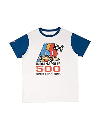 Kimoa Camiseta Indy Retro66, Unisex Adulto, Crema, XXL