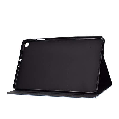 Ancase Tablet Hülle kompatibel für Huawei MediaPad T3 10.0 Zoll Hülle Case Leder Tasche Muster Schutzhülle Flip Cover mit Kartenfach - Schauspielkatze