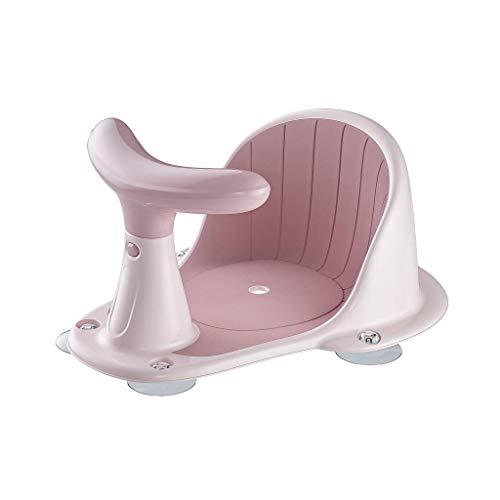 Baby-Badesitz, leistungsstarker Saugnapf, rutschfeste Kissen, Rückenlehne, Duschstuhl, Baby-Badezimmerstuhl für Badewanne, Rosa