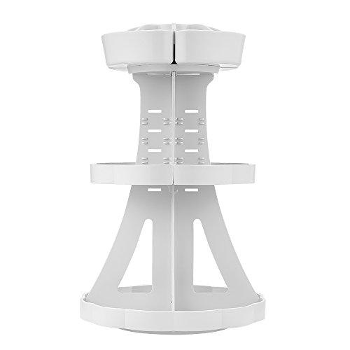 『Jerrybox コスメ収納 メイクボックス 回転 化粧品収納 コスメボックス (タワー, ホワイト)』の1枚目の画像