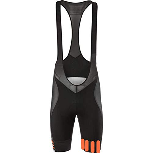 d.Stil Herren Radtrikot Set Kurzarm mit Sitzpolster für MTB Rennrad Fahrrad Jersey + Bib Shorts Radsportanzug M – XXXXL (Grau-Orange, M) - 4