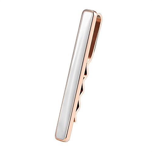 Alta qualità in acciaio da uomo Karisma 316L Fermacravatta Madreperla Bianco/cravatte pinza/Tie Clip colore scelta ktc203, acciaio inossidabile, color