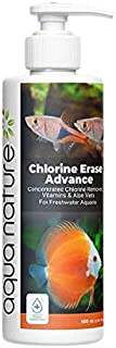 AquaNature Chlorine Erase Advance Water Conditioner Concentrated Chlorine Remover with Added Vitamin & Aloe Vera for Fresh...