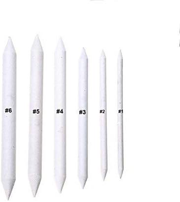 Estompes pour Dessin Estompeur Dessin Faber pour Les Artistes /étudiants Crayon Estompeur Tortillons Blending Stump Croquis Stylos Alliant essuie-Glaces en Papier RXING 6PCS Estompe en Papier