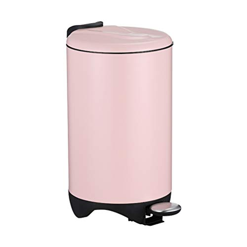 Cubo de Basura de Interior Pedal bote de basura del hogar Bote de basura con tapa de acero inoxidable 12L / 3 galones cocina y baño Bote de basura (11 * 17,7 pulgadas) Papeleras de la Cocina de la Ces
