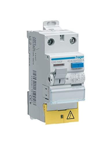 Interruptor diferencial (Hager–25A–300mA–1polo + neutra–tipo AC–Tornillos/Tornillos