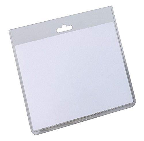 Durable 813519 Namensschilderhülle (geschlossene Tasche, 60 x 90 mm, durchsichtige Hartfolie) Packung à 20 Stück, transparent