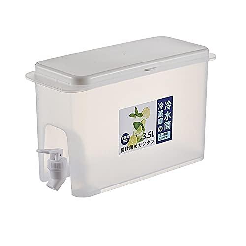 Ocobetom Frigorífico dispensador de agua con grifo, recipiente de agua con grifo, vaso de agua con grifo, jarra grande, dispensador de bebidas, estante rellenable, ideal para bebidas frías