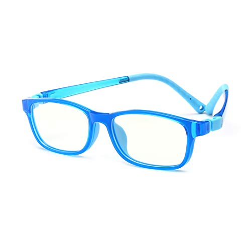 Kinderbrillen Anti Blaulicht Brille Klare Linse Brille Farbige Brillenfassung Brillengestell für Jungen Und Mädchen