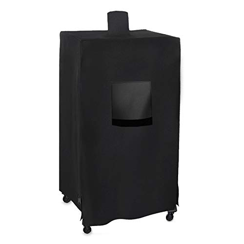Hisencn 73550 Pellet Smoker Grill Cover for Pit Boss 5 Series PBV5P1, pro Series 4 Vertical Pellet Smokers PBV4PS1, 600D Waterproof Heavy Duty Barbeque BBQ Cover with Zipper Design, UV Resistant