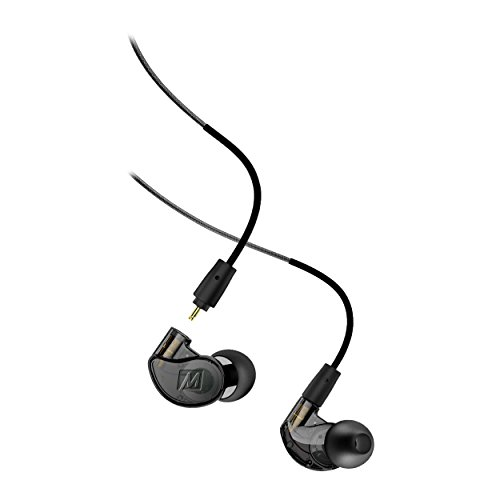 MEE audio -  M6 PRO 2nd Generation Universal-Fit Noise-Isolating Musicians' In-Ear Monitors with Detachable Cables - Smoke