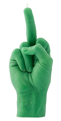 CandleHand Candela per gesti delle mani F*CK YOU - Dito medio - Grande mano reale Dimensioni 22 x 9 x 8 cm - Compleanno insolito, ufficio, regalo di inaugurazione della casa