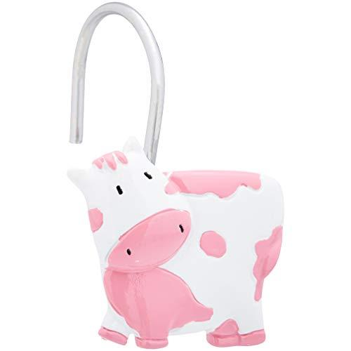 AmazonBasics – Haken für Kinder-Duschvorhang, rosa Kuh