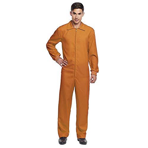 Mono Trabajo de Disfraz con Cremallera Naranja Adulto (M) (+Tallas) Halloween y Carnaval