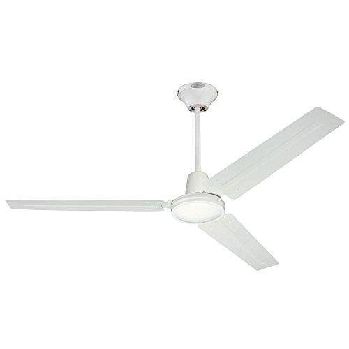 Westinghouse Lighting Westinghouse 7812700 Industrial 56-Inch Three Indoor Ceiling Fan, White Steel Blades, 1 Pack
