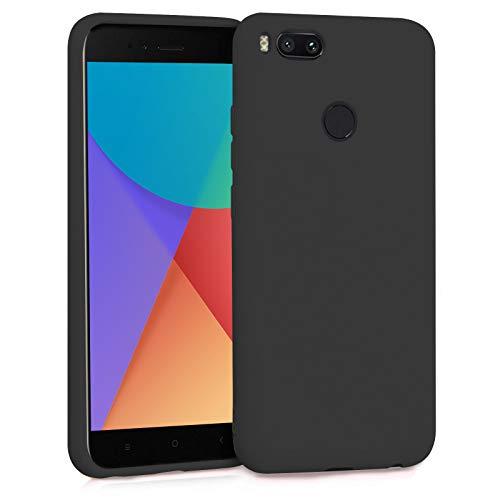 TBOC Funda para Xiaomi Mi A1 - Mi 5X- Carcasa Rígida [Negra] Silicona Líquida Premium [Tacto Suave] Forro Interior Microfibra [Protege la Cámara] Antideslizante Resistente Suciedad Arañazos