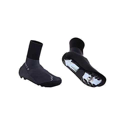 BBB Cycling Fahrrad UltraWear Zipperless | fur Herren und Damen | Regenschutz Thermo Wasserdicht Uberschuhe Rennrad MTB | BWS-25 43/44, Black
